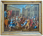 The Abduction of the Sabine Women – painted for Cardinal Luigi Omodei (1637-1638)
