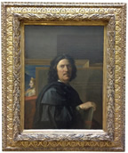 Nicholas Poussin, self-portrait of the artist