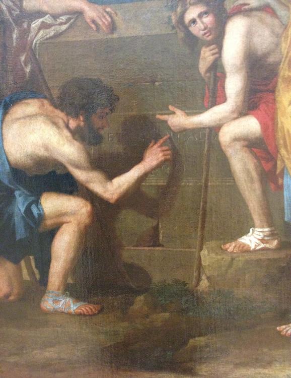 Les Bergers d'Arcadie du Louvre - détail