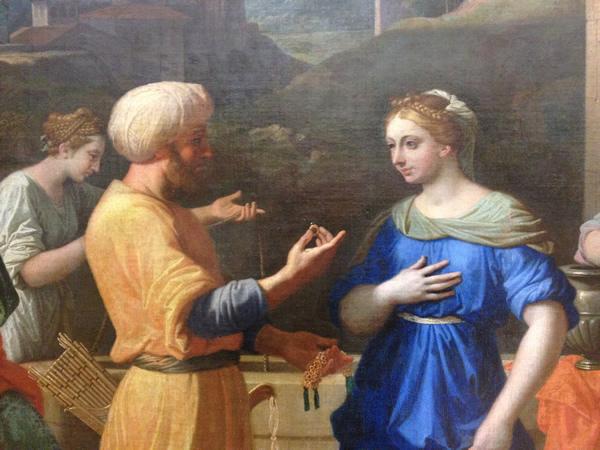Eliézer et Rébecca 1648 - Musée du Louvre - détail 1