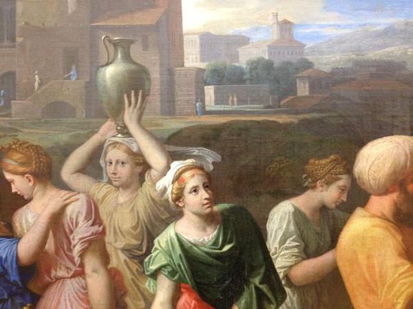 Eliézer et Rébecca 1648 - Musée du Louvre - détail 10