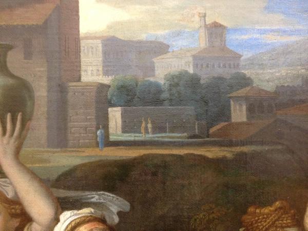 Eliézer et Rébecca 1648 - Musée du Louvre - détail 14