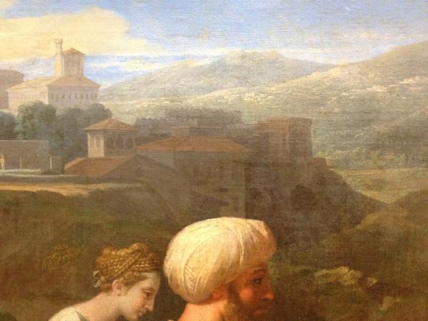 Eliézer et Rébecca 1648 - Musée du Louvre - détail 3