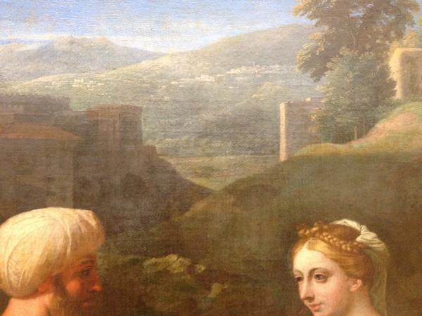 Eliézer et Rébecca 1648 - Musée du Louvre - détail 4