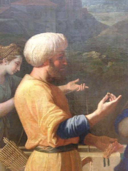 Eliézer et Rébecca 1648 - Musée du Louvre - détail 5
