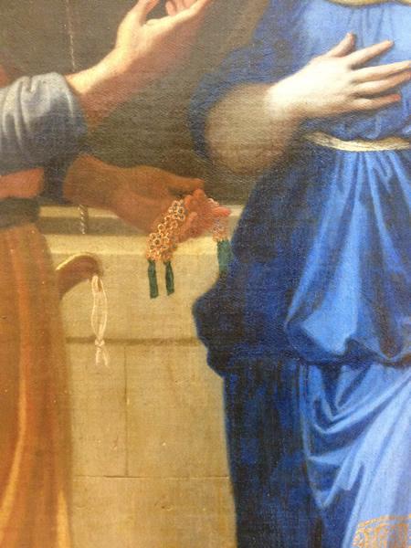 Eliézer et Rébecca 1648 - Musée du Louvre - détail 7