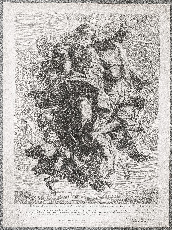 Assomption de la Vierge - Gravure de Jean Pesne