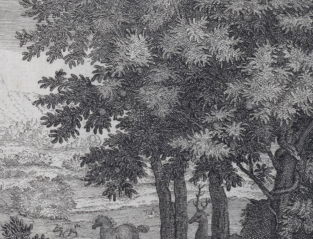Le Printemps (1660-1664) - Détail - Gravure d'Audran