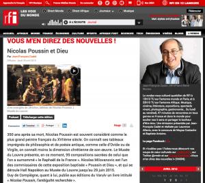 Vous M'en Direz des Nouvelles, émission de RFI consacrée à Poussin